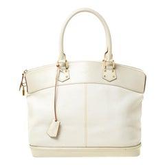 Louis Vuitton Cream Suhali Leather Lockit GM Bag