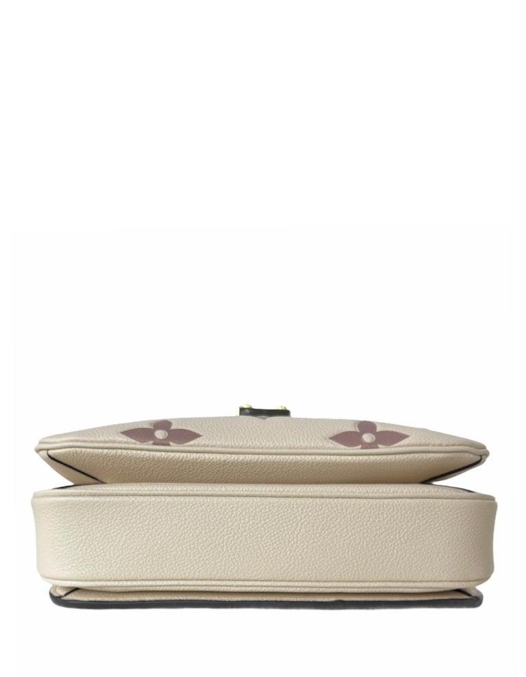 Women's Louis Vuitton Creme Bois De Rose Empreinte Monogram Pochette Metis Bag For Sale