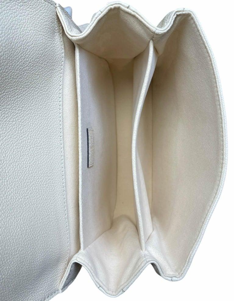 Louis Vuitton Creme Bois De Rose Empreinte Monogram Pochette Metis Bag For Sale 3