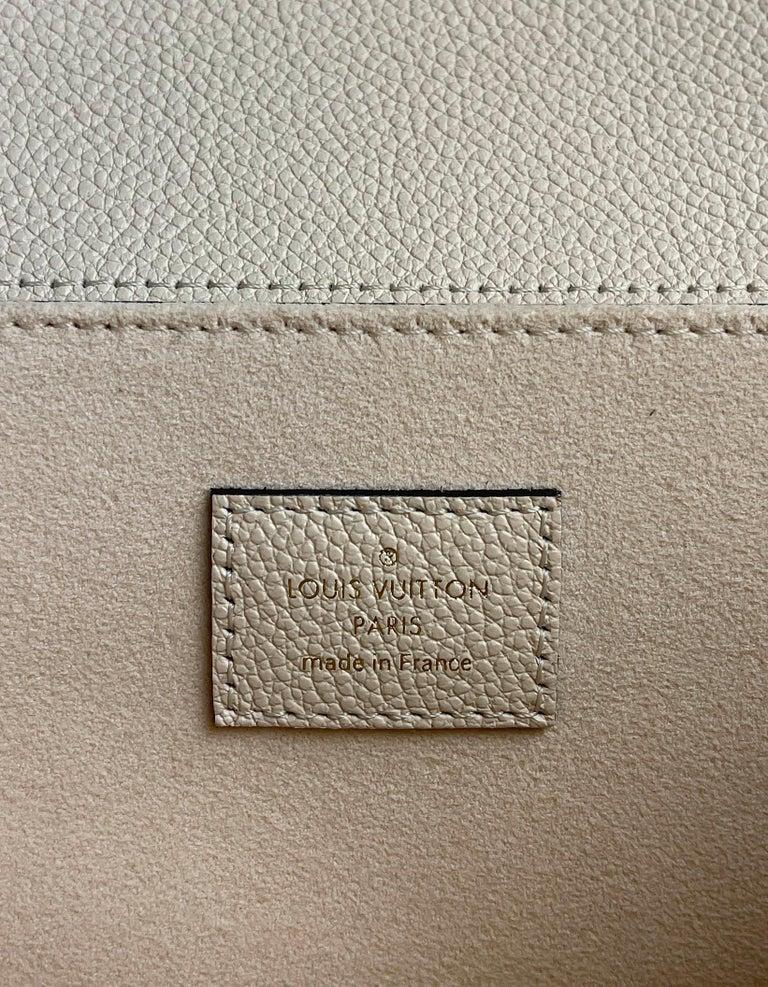 Louis Vuitton Creme Bois De Rose Empreinte Monogram Pochette Metis Bag For Sale 4