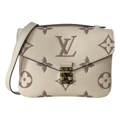 Louis Vuitton Creme Bois De Rose Empreinte Monogram Pochette Metis Bag