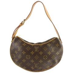 Louis Vuitton Croissant Hobo Zip 2le0108 Brown Coated Canvas Shoulder Bag