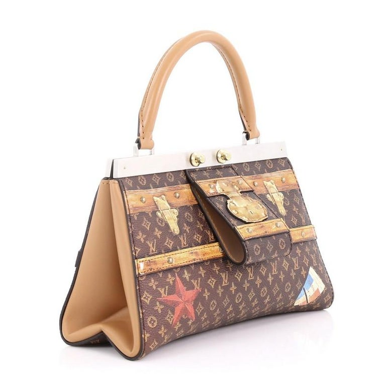 Louis Vuitton Crown Frame Tote Limited Edition Time Trunk Monogram ... 7d2be0d76707b