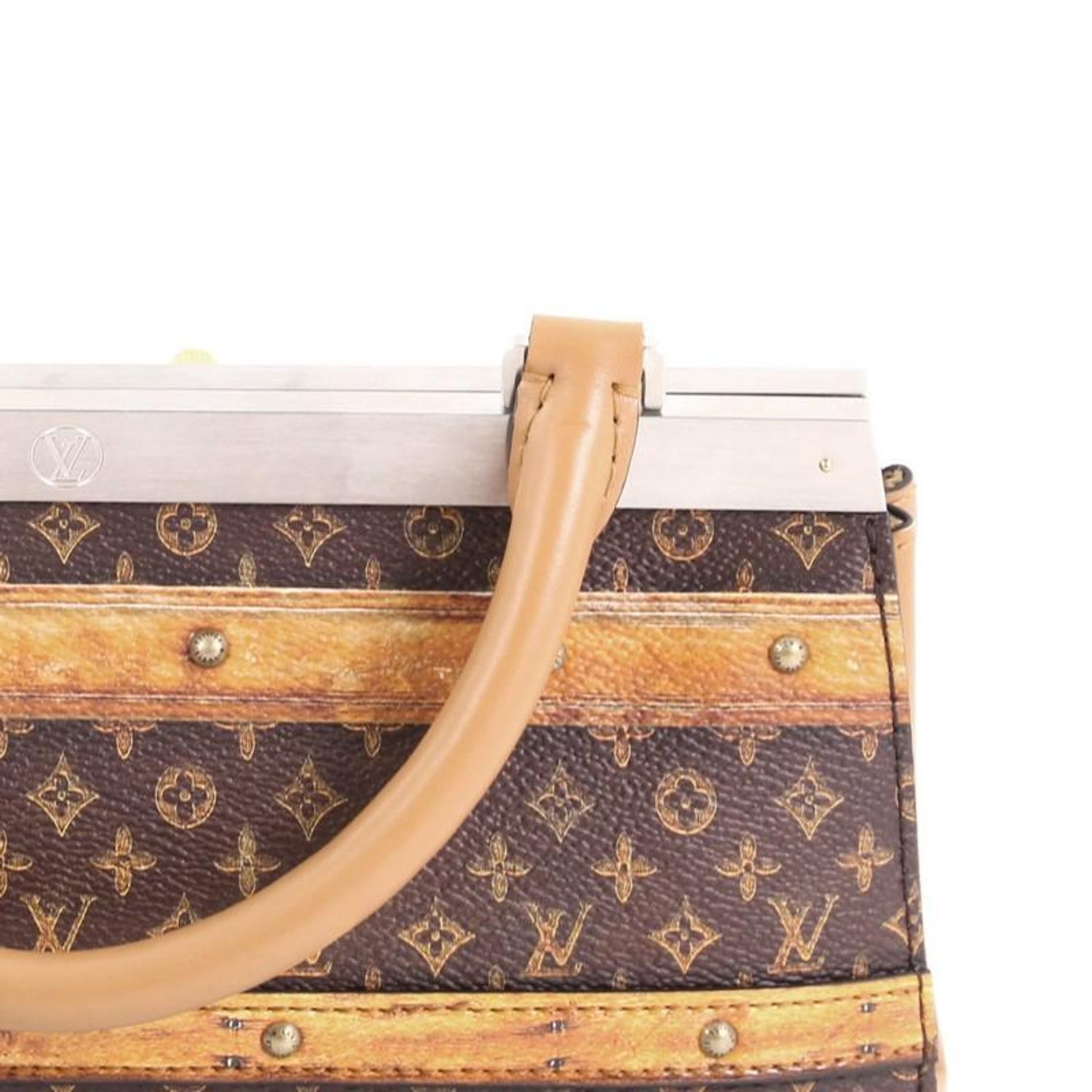 Louis Vuitton Crown Frame Tote Limited Edition Time Trunk Monogram Canvas  at 1stdibs e7c086fede937