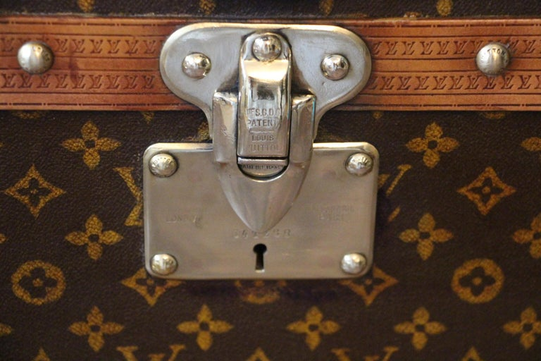 French Louis Vuitton Cube Steamer Trunk-Louis Vuitton Cube Trunk-Louis Vuitton Trunk For Sale