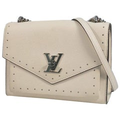 LOUIS VUITTON Cuir Taurillon My LockMeBB Womens shoulder bag M51495 white