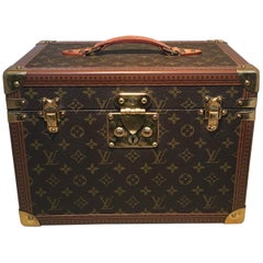 Louis Vuitton Custom Monogram Jewelry Travel Train Case with 16 Ultrasuede Trays