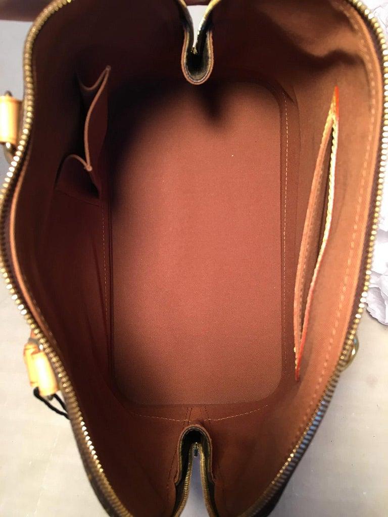 Louis Vuitton Customized Hand Painted Tulip Monogram Alma Bag For Sale 1