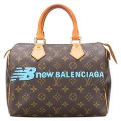 Louis Vuitton Customized 'New Balenciaga' Monogram Speedy Bag