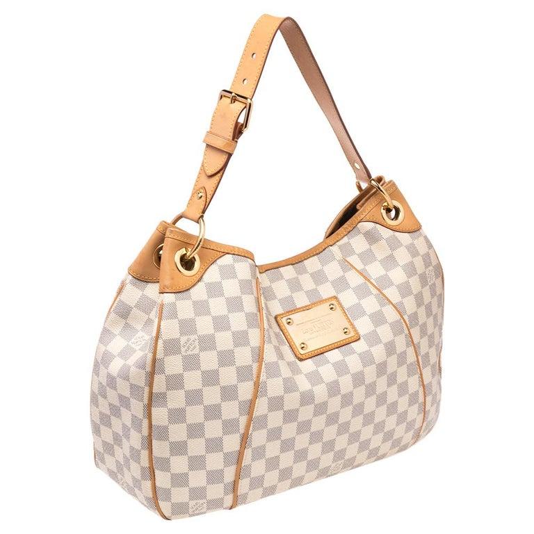 Louis Vuitton Damier Azur Canvas Galliera PM bag In Good Condition For Sale In Dubai, Al Qouz 2