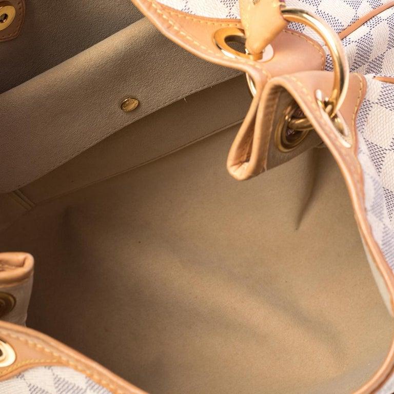 Louis Vuitton Damier Azur Canvas Galliera PM bag For Sale 4