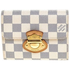 Louis Vuitton Damier Azur Canvas Joey Compact Wallet