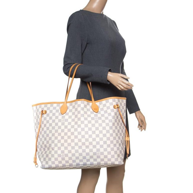Beige Louis Vuitton Damier Azur Canvas Neverfull GM Bag For Sale c5e0ebde1483e