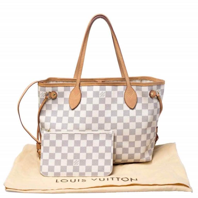 Louis Vuitton Damier Azur Canvas Neverfull PM Bag 8
