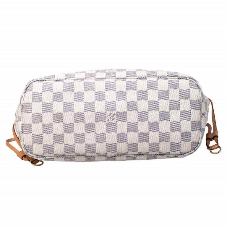 Louis Vuitton Damier Azur Canvas Neverfull PM Bag 1
