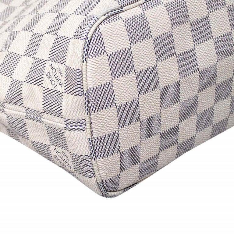 Louis Vuitton Damier Azur Canvas Neverfull PM Bag 3