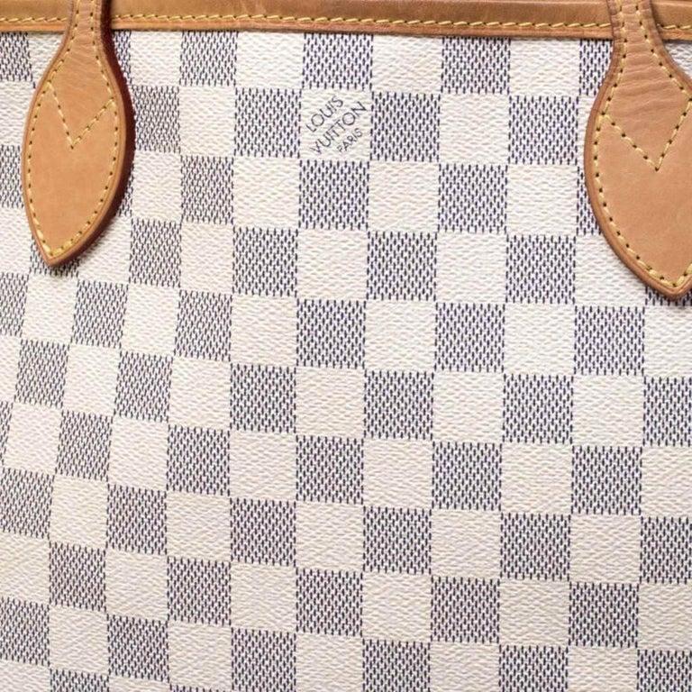 Louis Vuitton Damier Azur Canvas Neverfull PM Bag 4