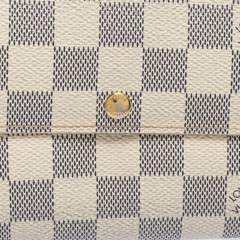 Louis Vuitton Damier Azur Canvas Sarah Wallet For Sale 2