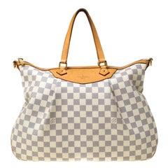 Louis Vuitton Damier Azur Canvas Siracusa GM Bag
