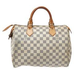 Louis Vuitton Damier Azur Canvas Speedy 30 Bag