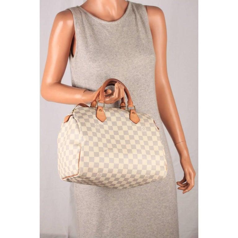 Louis Vuitton Damier Azur Canvas Speedy 30 Handbag For Sale at 1stdibs 06fa55f06366c