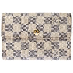 Louis Vuitton Damier Azur Canvas Trifold Wallet