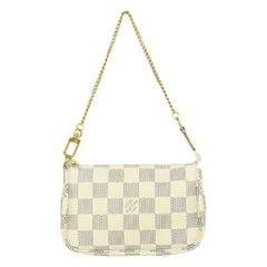Louis Vuitton Damier Azur Mini Pochette Accessories Bag