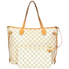 Louis Vuitton Damier Azur Neo Neverfull MM Tote Bag w/ Insert SOLD OUT