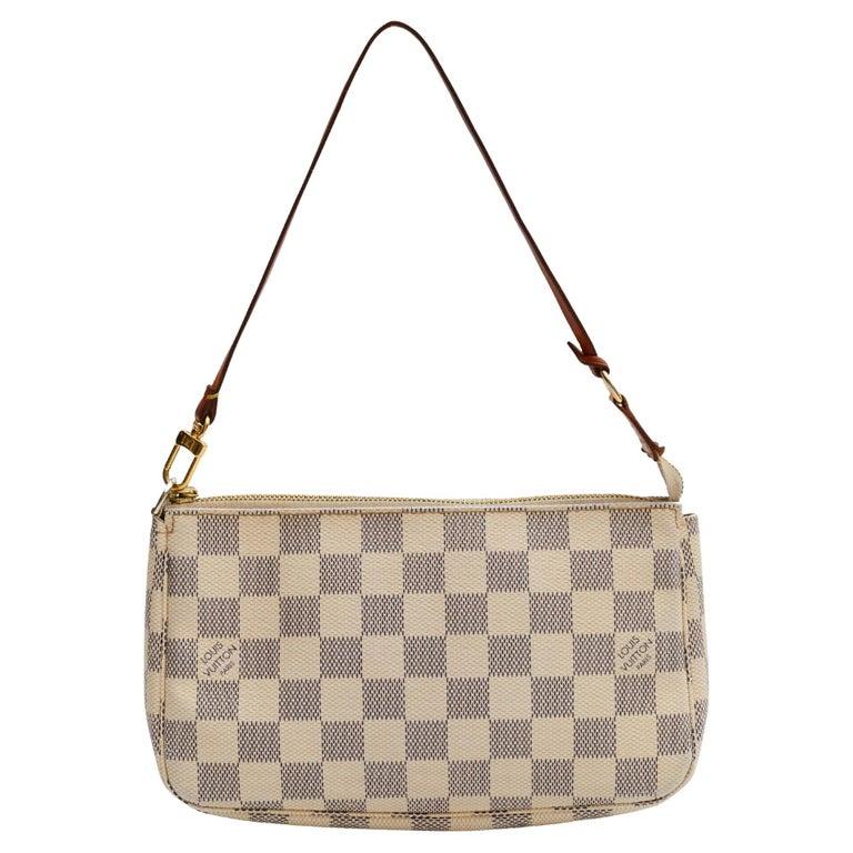 Louis Vuitton Damier Azur Pochette Accessories NM Bag (2012) For Sale
