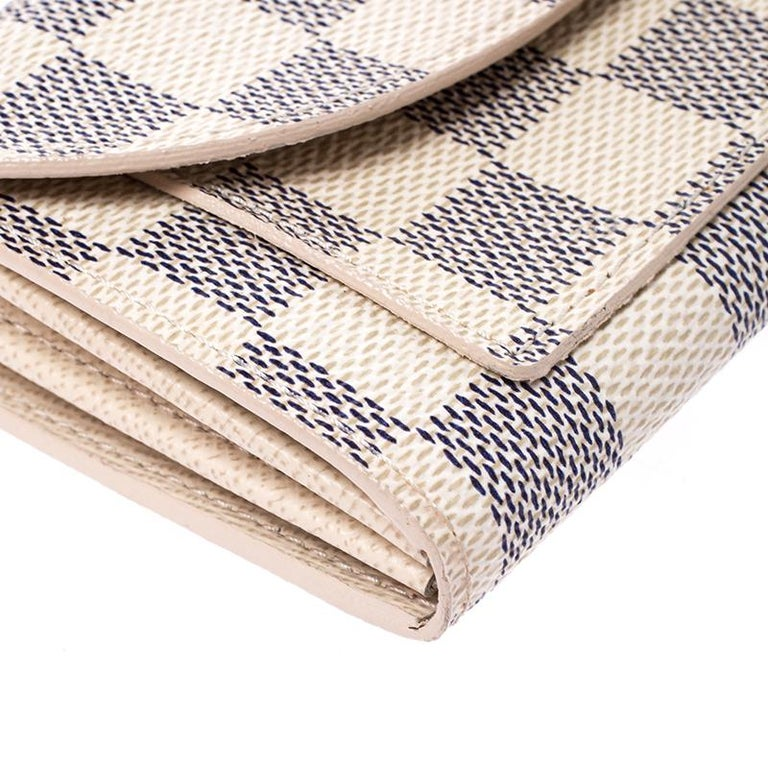 Louis Vuitton Damier Azur Pochette Solo Belt Bag For Sale 2