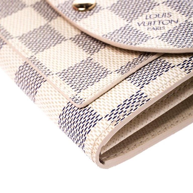 Louis Vuitton Damier Azur Pochette Solo Belt Bag For Sale 4