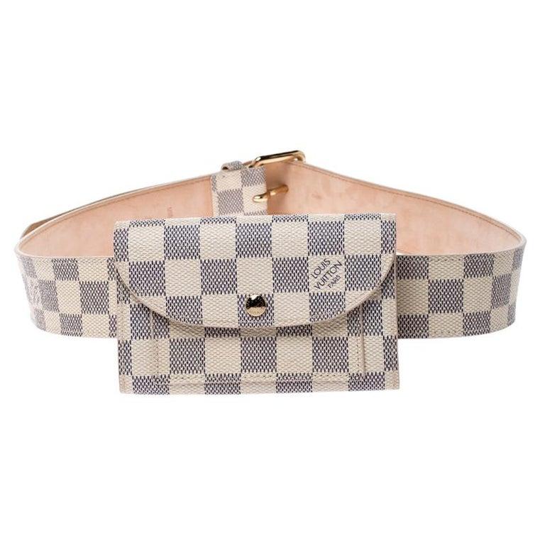 Louis Vuitton Damier Azur Pochette Solo Belt Bag For Sale