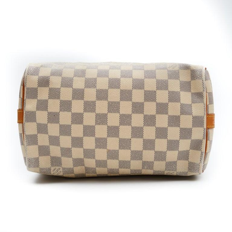 Brown Louis Vuitton Damier Azur Speedy 25 Bandouliere (2016) For Sale