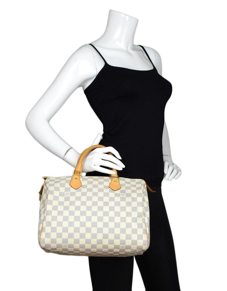 86a7dd20bb3 Louis Vuitton Damier Azur Speedy 30 Bag w/ Lock, Key & Dust Bag