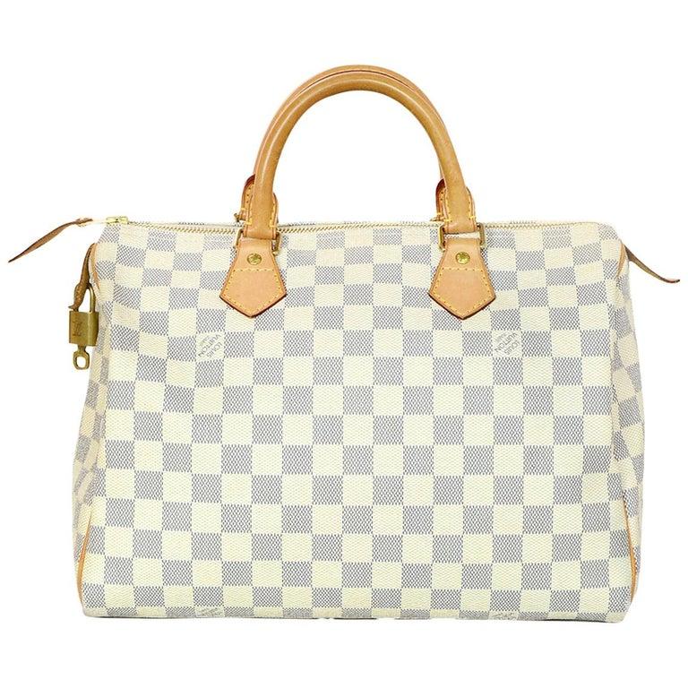 2d47f51c6f9b Louis Vuitton Damier Azur Speedy 30 Bag w  Lock