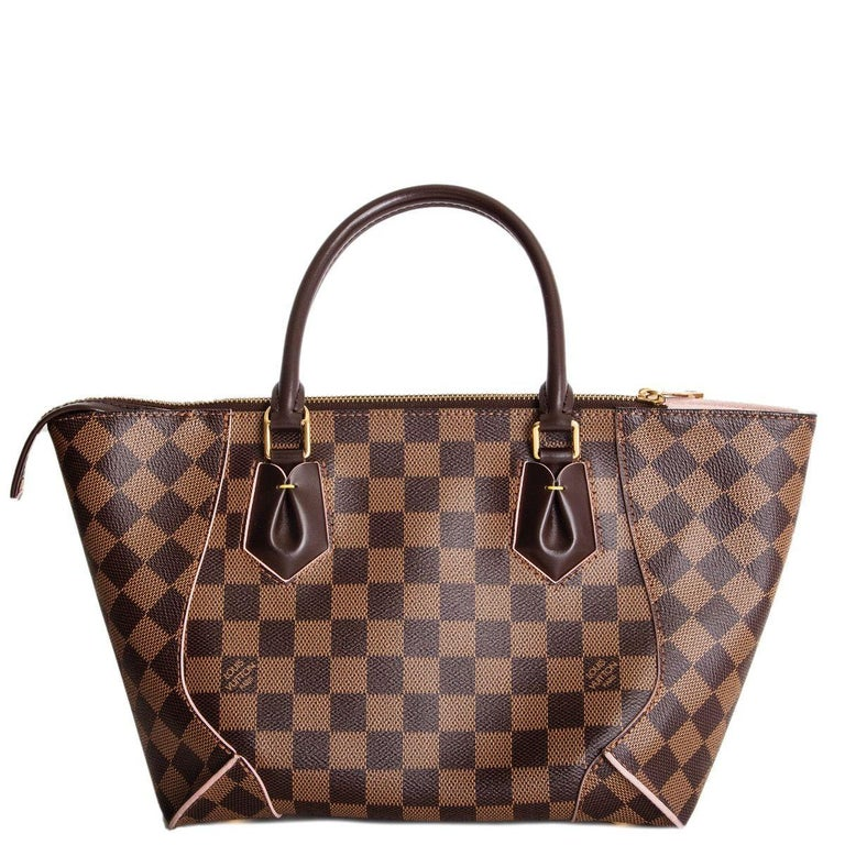 Brown LOUIS VUITTON Damier canvas Rose Ballerine CAISSA PM Tote Shoulder Bag For Sale