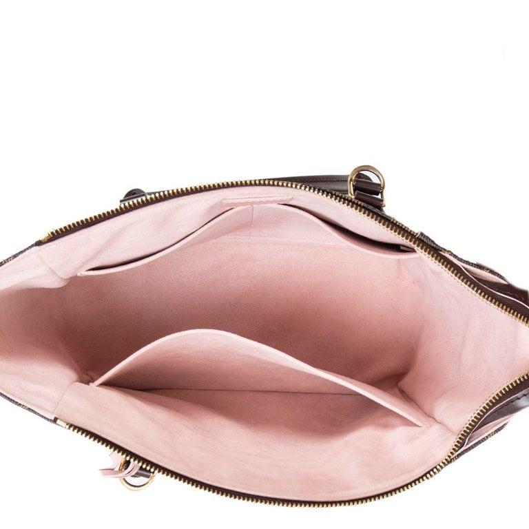 Women's LOUIS VUITTON Damier canvas Rose Ballerine CAISSA PM Tote Shoulder Bag For Sale
