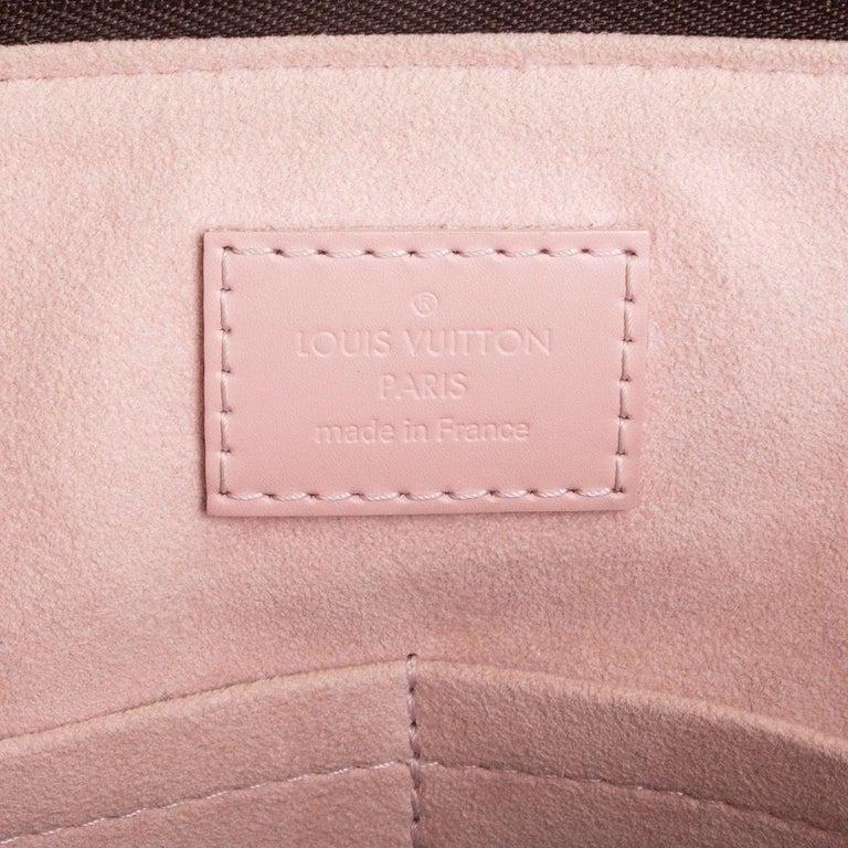 LOUIS VUITTON Damier canvas Rose Ballerine CAISSA PM Tote Shoulder Bag For Sale 1