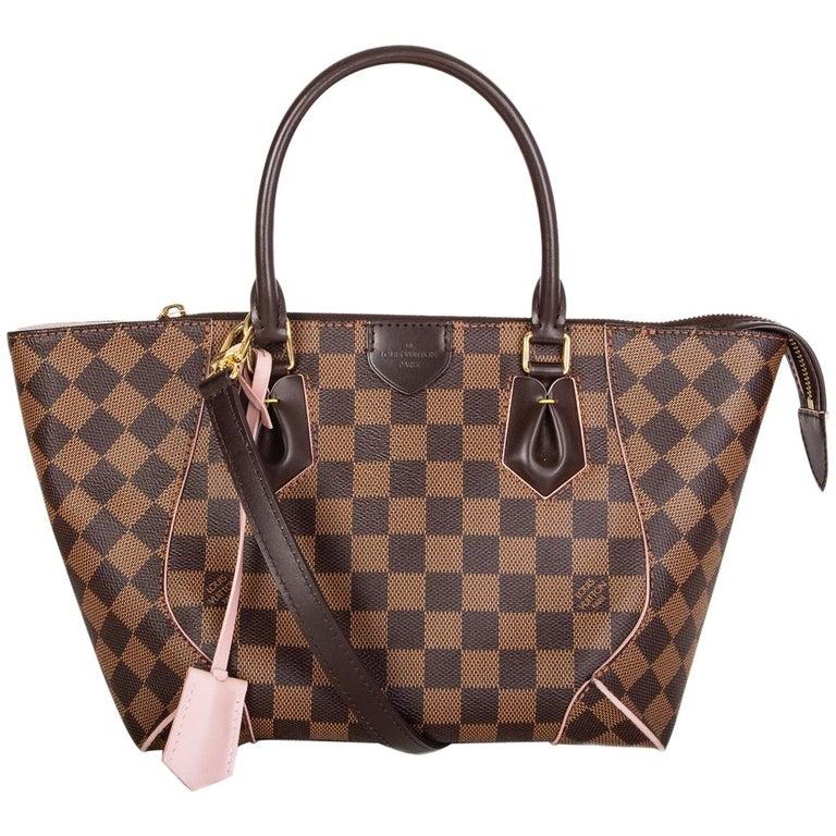 LOUIS VUITTON Damier canvas Rose Ballerine CAISSA PM Tote Shoulder Bag For Sale