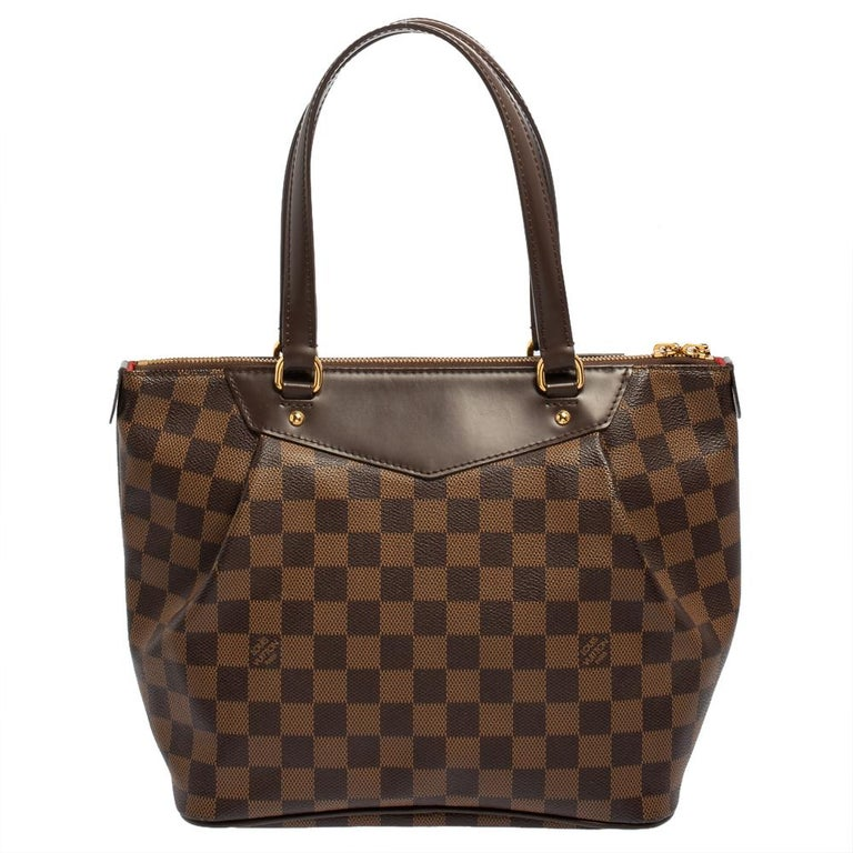 Black Louis Vuitton Damier Coated Canvas Westminster PM Tote For Sale