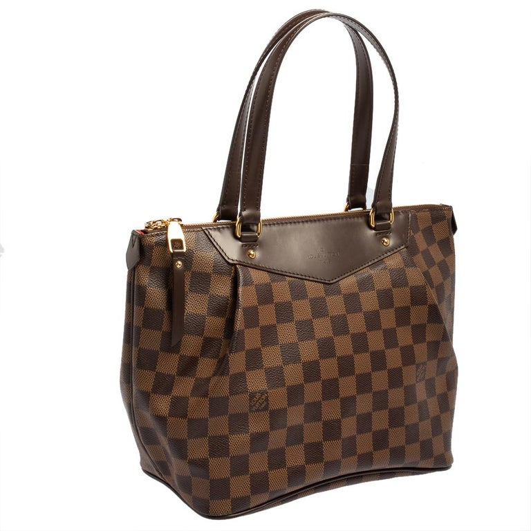 Louis Vuitton Damier Coated Canvas Westminster PM Tote In Good Condition For Sale In Dubai, Al Qouz 2