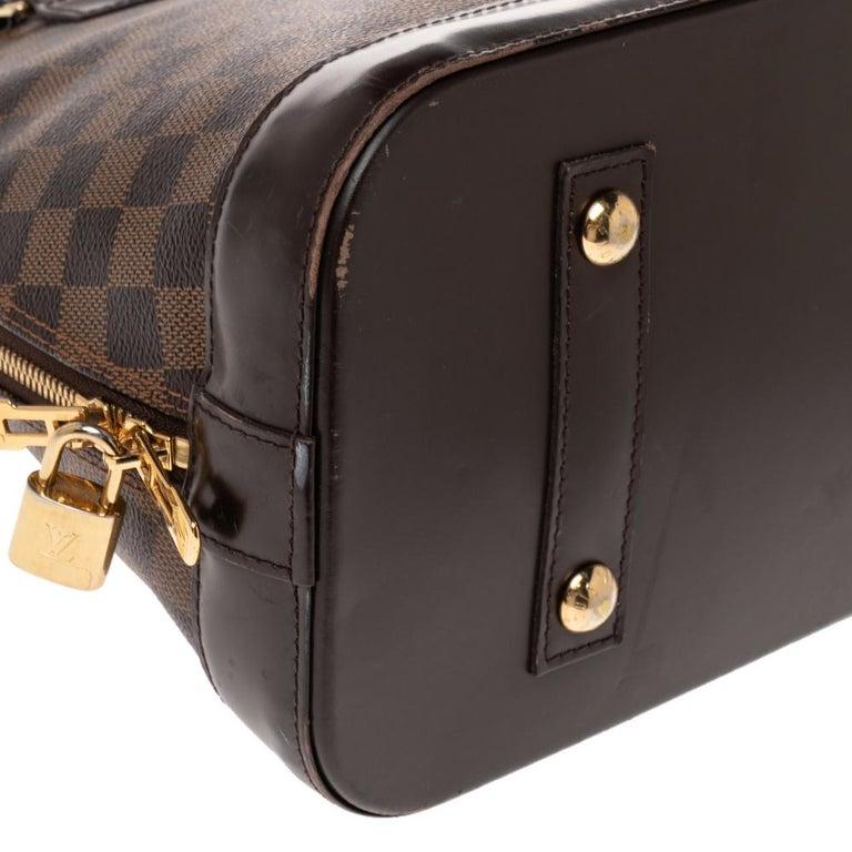 Louis Vuitton Damier Ebene Canvas Alma MM Bag For Sale 5