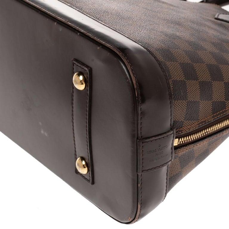 Louis Vuitton Damier Ebene Canvas Alma MM Bag For Sale 6