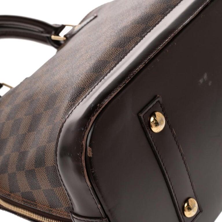 Louis Vuitton Damier Ebene Canvas Alma MM Bag For Sale 7