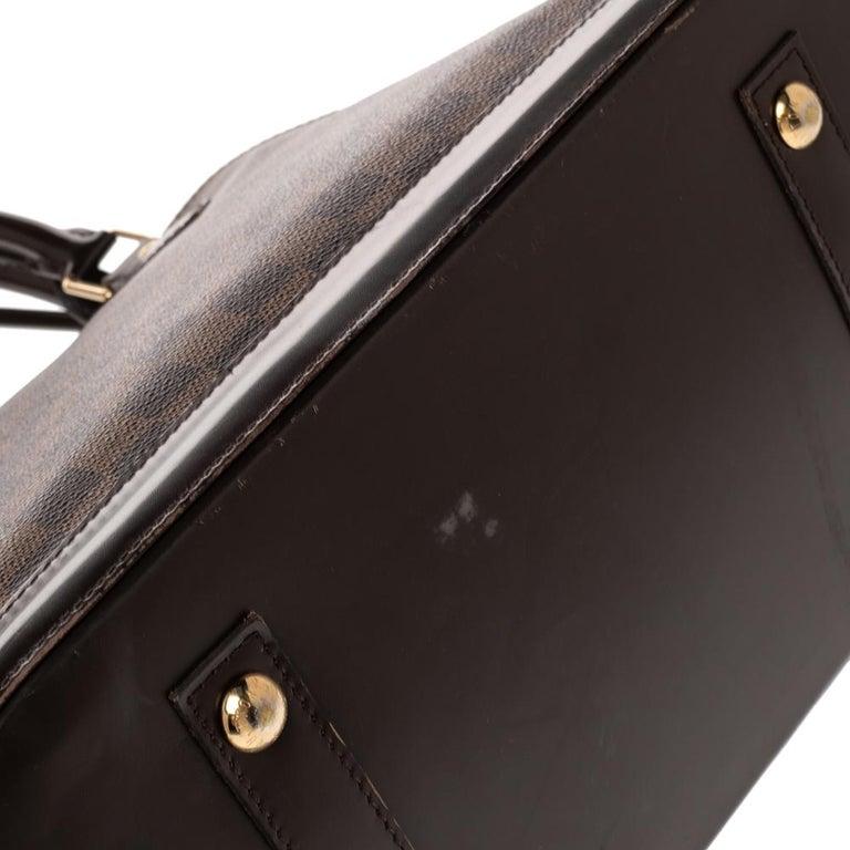 Louis Vuitton Damier Ebene Canvas Alma MM Bag For Sale 8
