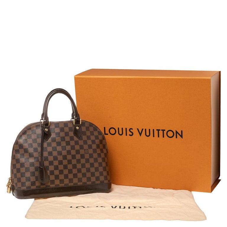 Louis Vuitton Damier Ebene Canvas Alma MM Bag For Sale 9