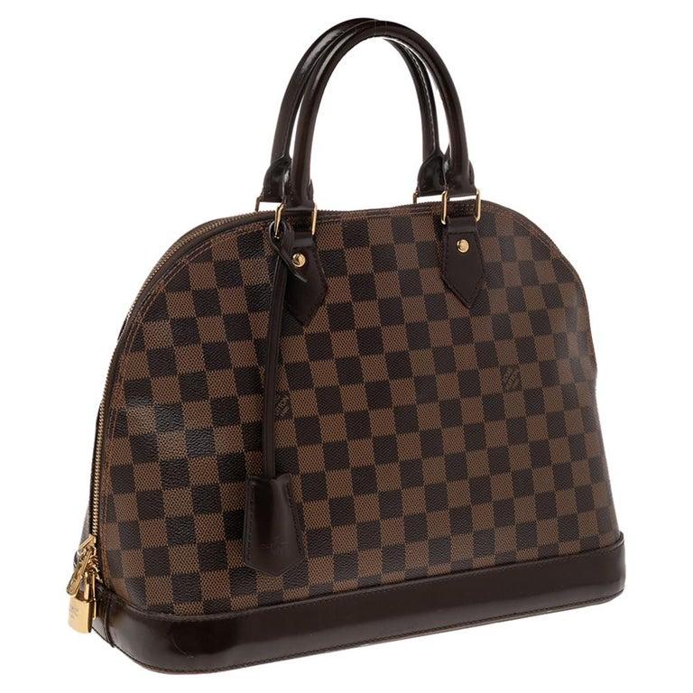 Louis Vuitton Damier Ebene Canvas Alma MM Bag In Good Condition For Sale In Dubai, Al Qouz 2