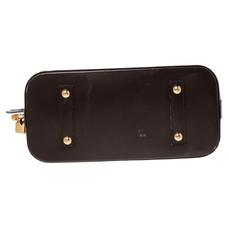 Women's Louis Vuitton Damier Ebene Canvas Alma MM Bag For Sale