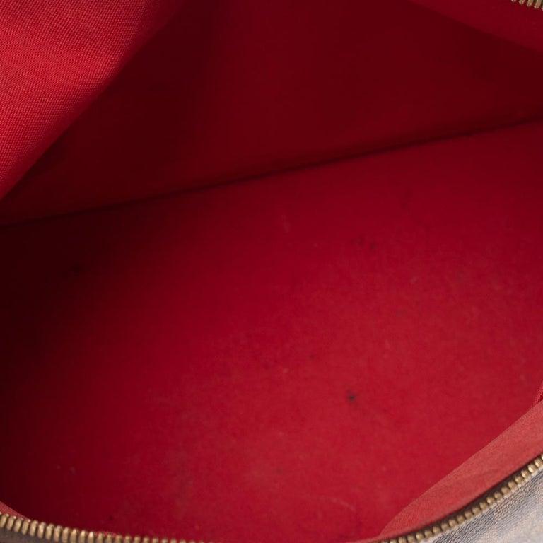 Louis Vuitton Damier Ebene Canvas Alma MM Bag For Sale 1