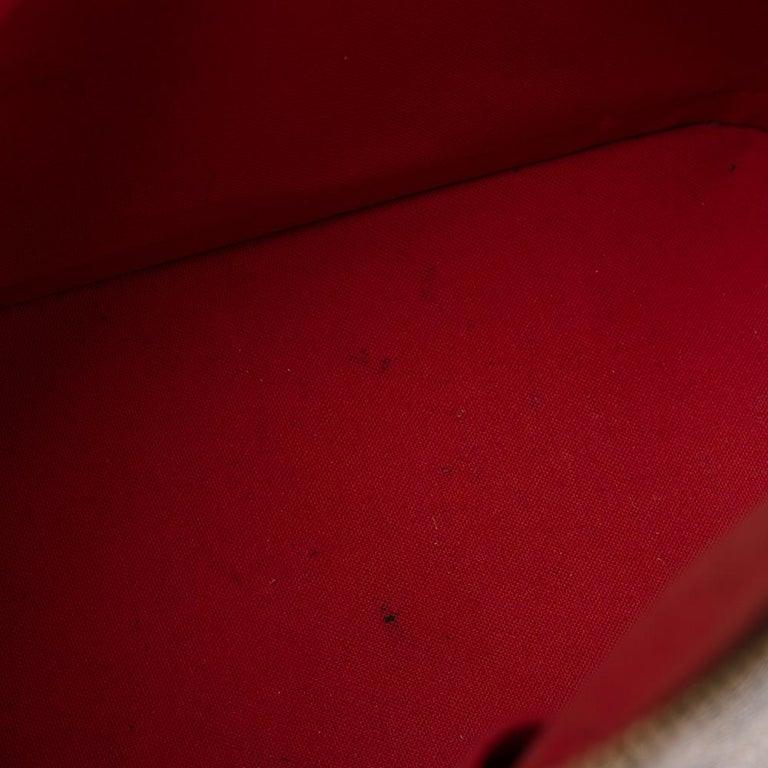Louis Vuitton Damier Ebene Canvas Alma MM Bag For Sale 2